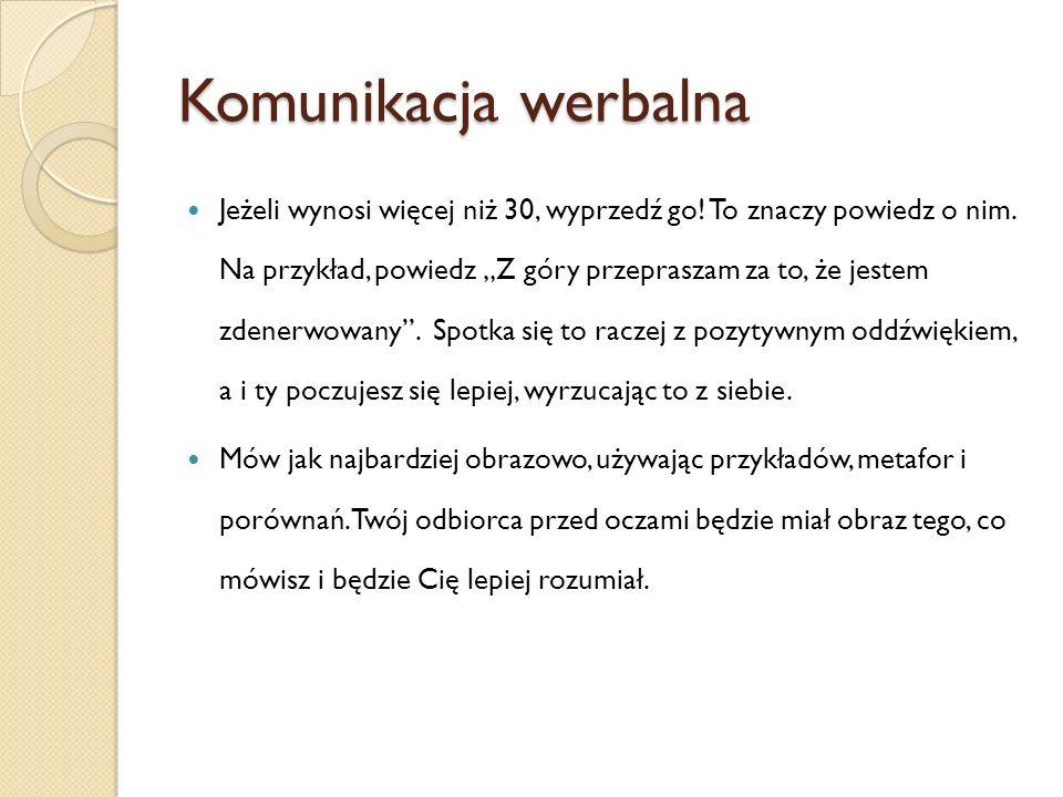 Komunikacja werbalna