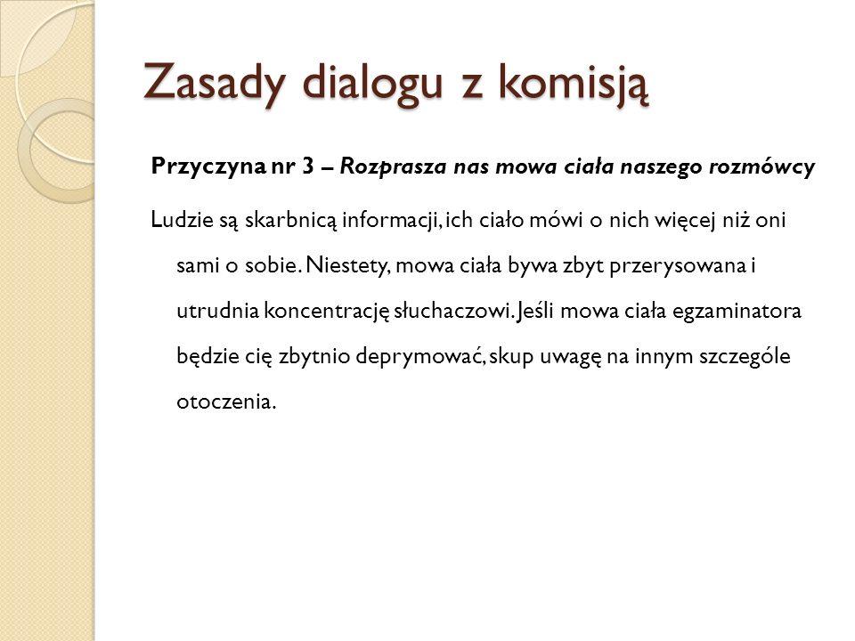 Zasady dialogu z komisją