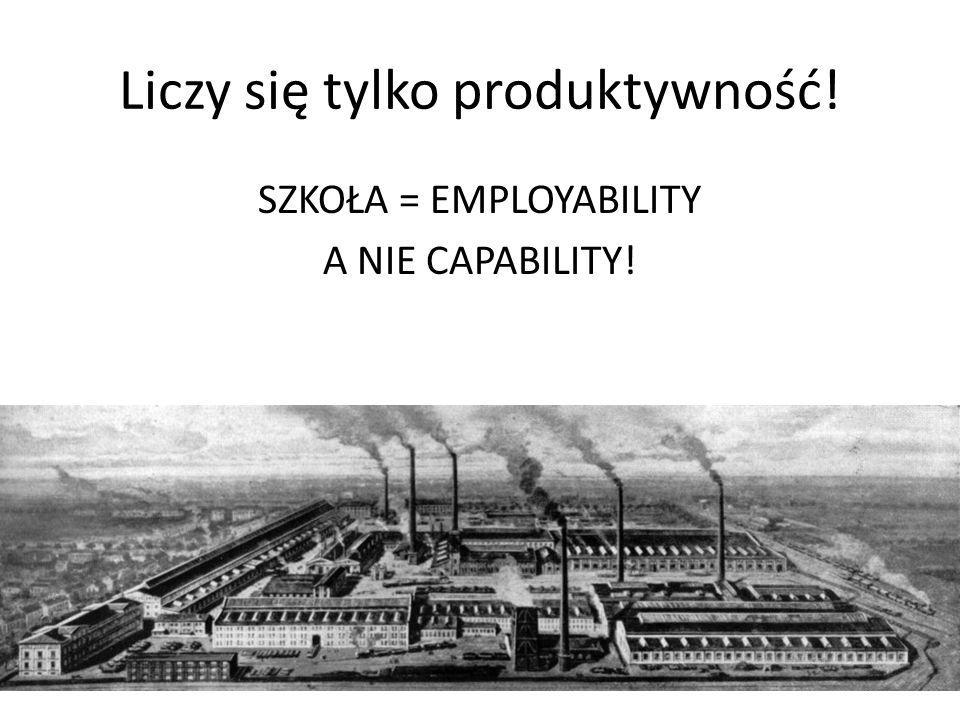 Liczy się tylko produktywność!