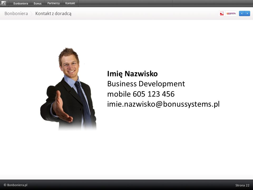Imię Nazwisko Business Development mobile 605 123 456
