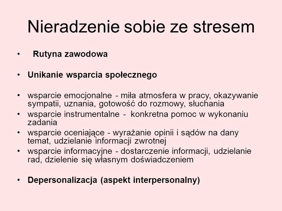 Nieradzenie sobie ze stresem