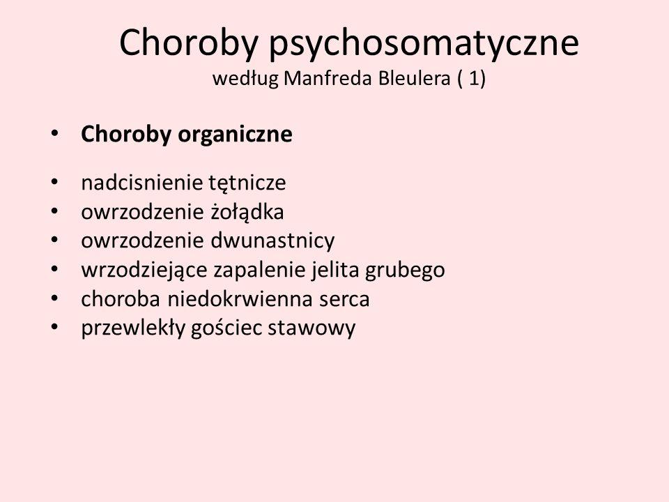 Choroby psychosomatyczne według Manfreda Bleulera ( 1)