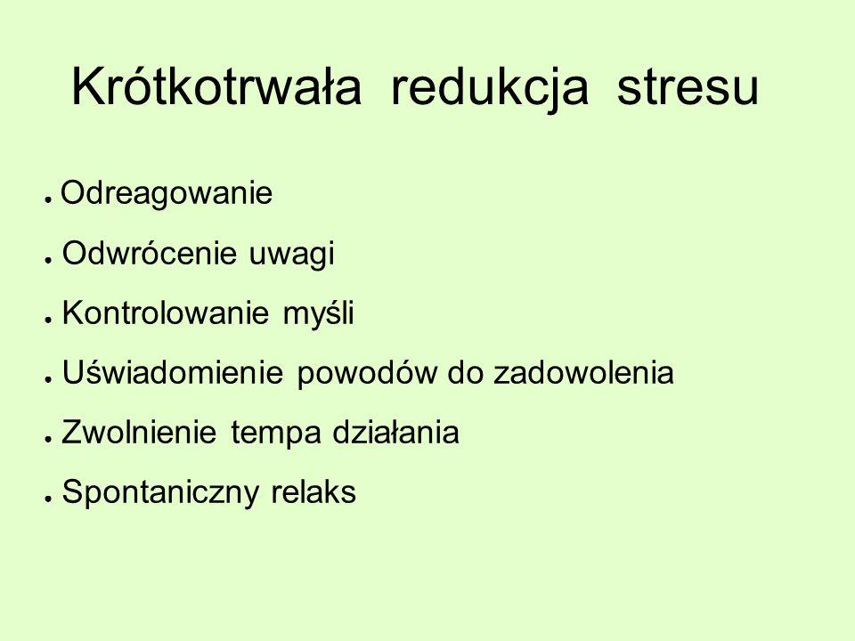 Krótkotrwała redukcja stresu