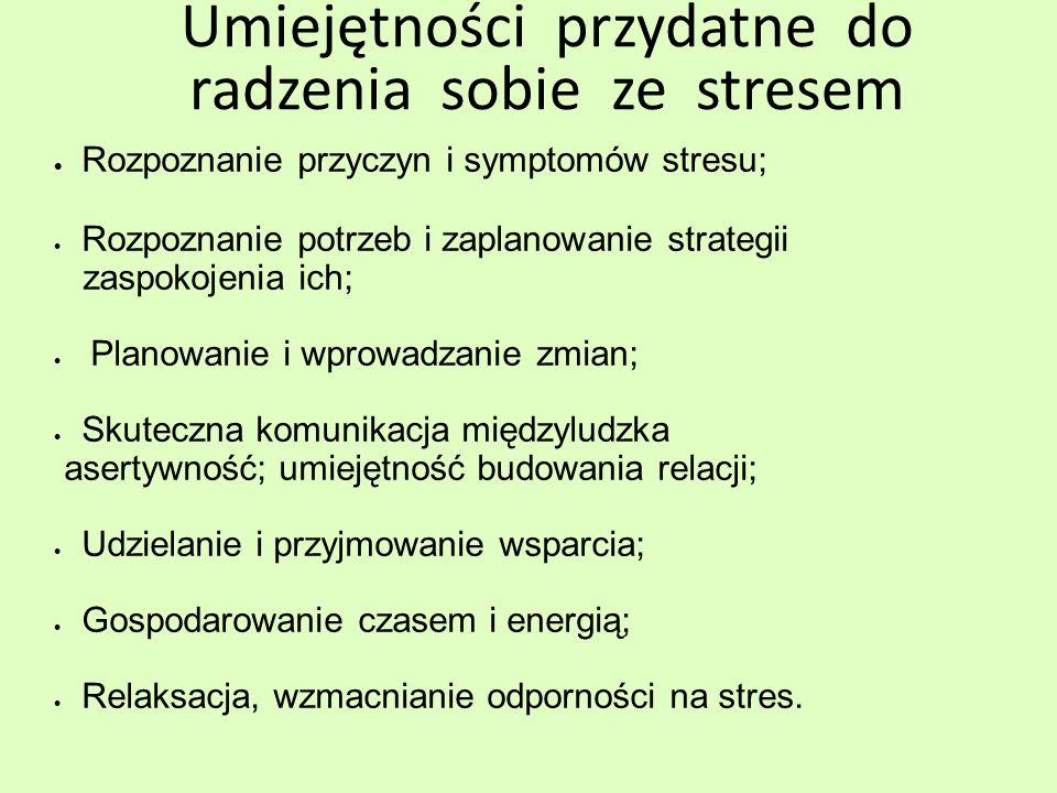 Umiejętności przydatne do radzenia sobie ze stresem