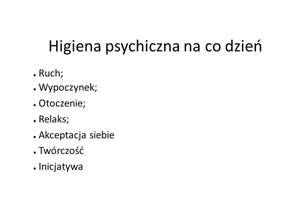 Higiena psychiczna na co dzień
