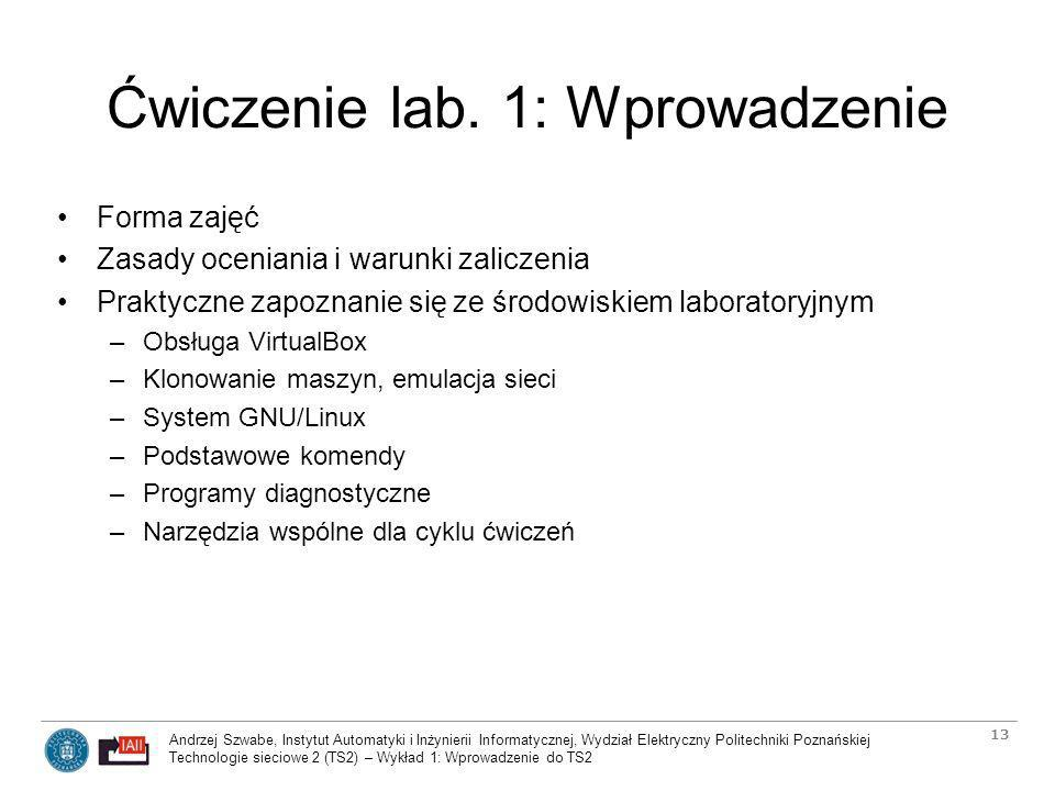 Ćwiczenie lab. 1: Wprowadzenie