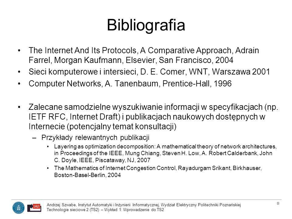 Bibliografia The Internet And Its Protocols, A Comparative Approach, Adrain Farrel, Morgan Kaufmann, Elsevier, San Francisco, 2004.
