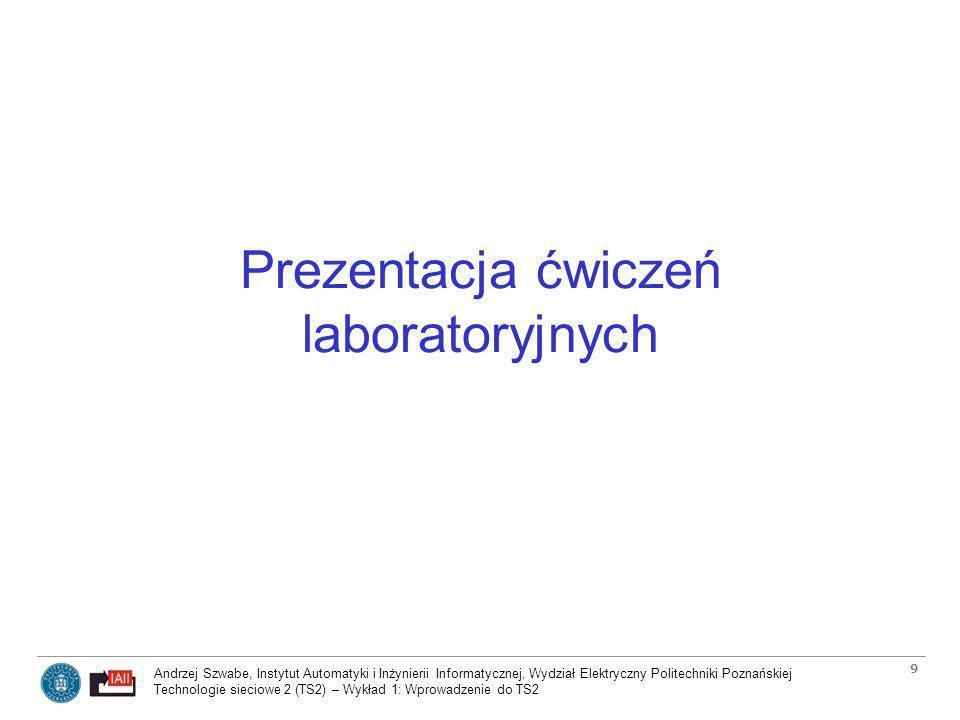 Prezentacja ćwiczeń laboratoryjnych