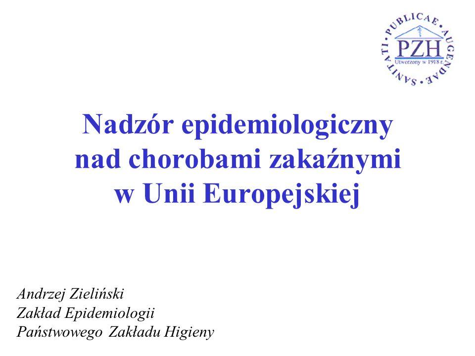 Nadzór epidemiologiczny nad chorobami zakaźnymi w Unii Europejskiej