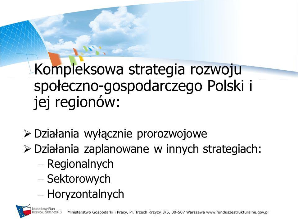 Kompleksowa strategia rozwoju społeczno-gospodarczego Polski i jej regionów: