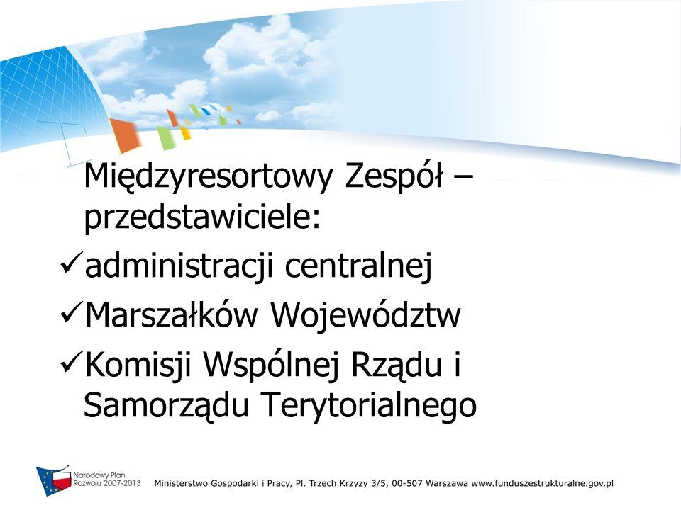 administracji centralnej Marszałków Województw