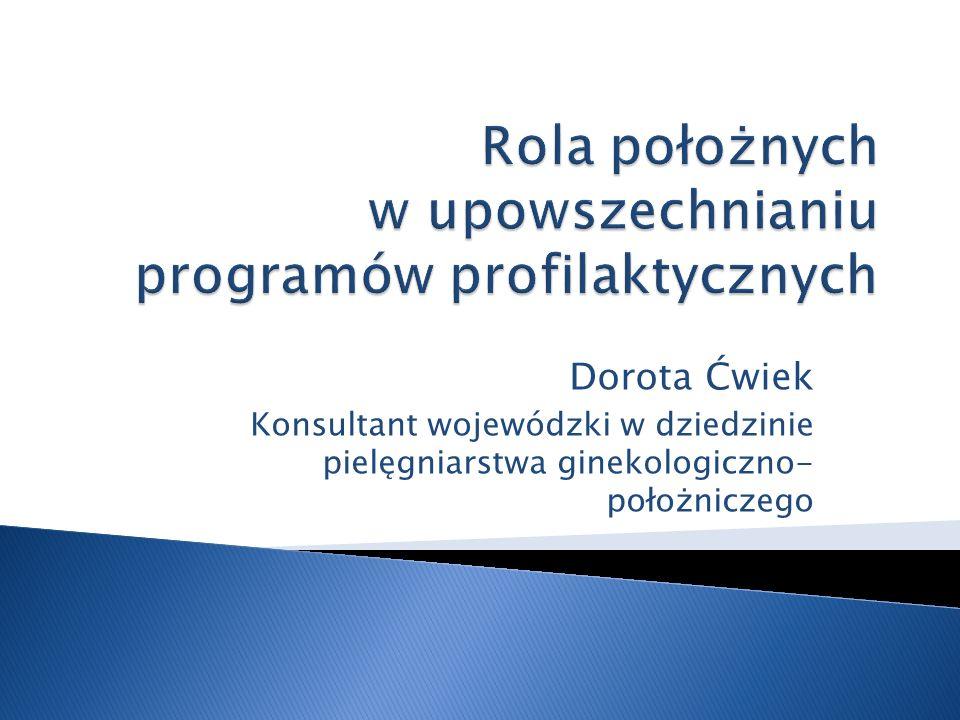 Rola położnych w upowszechnianiu programów profilaktycznych