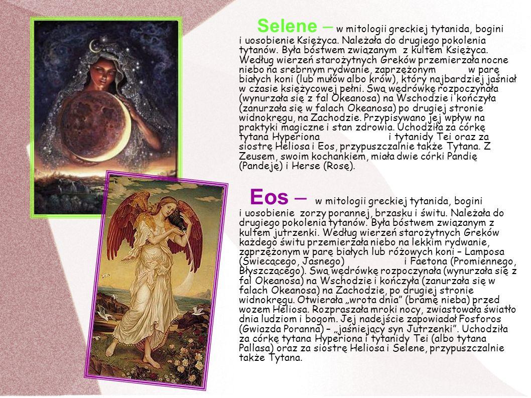 Selene – w mitologii greckiej tytanida, bogini i uosobienie Księżyca
