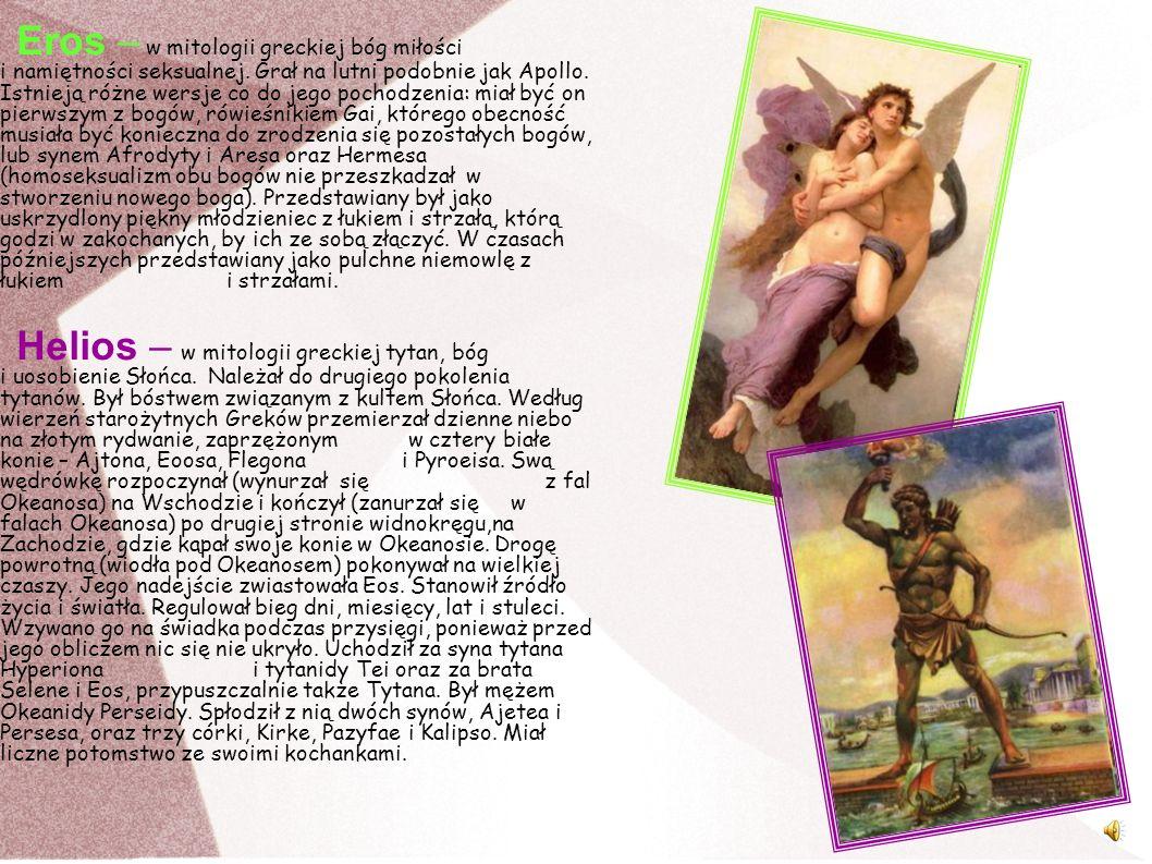 Eros – w mitologii greckiej bóg miłości i namiętności seksualnej