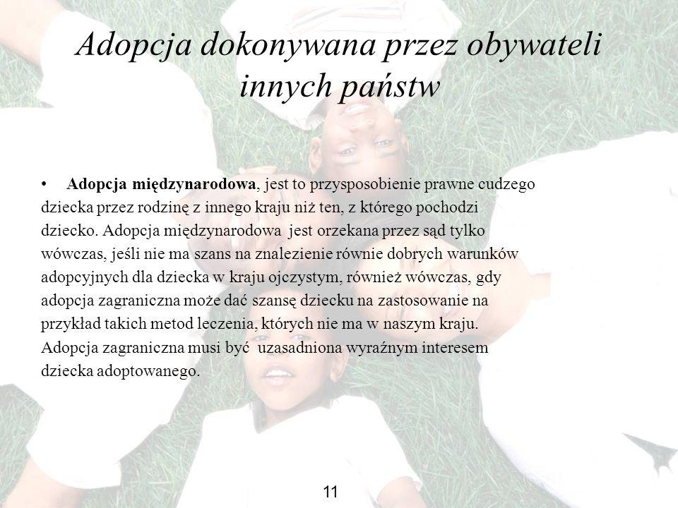 Adopcja dokonywana przez obywateli innych państw