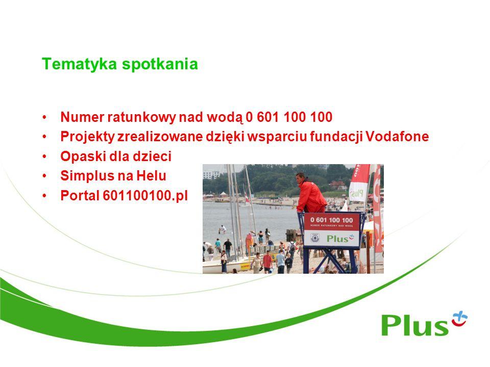 Tematyka spotkania Numer ratunkowy nad wodą 0 601 100 100
