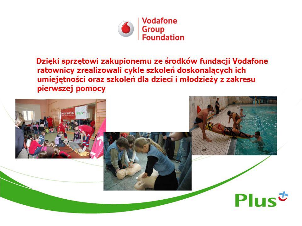 Dzięki sprzętowi zakupionemu ze środków fundacji Vodafone ratownicy zrealizowali cykle szkoleń doskonalących ich umiejętności oraz szkoleń dla dzieci i młodzieży z zakresu pierwszej pomocy
