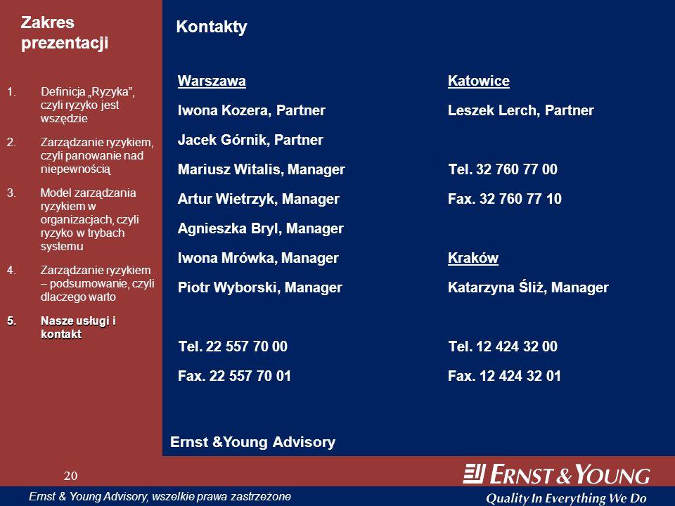 Kontakty Ernst &Young Advisory Warszawa Katowice