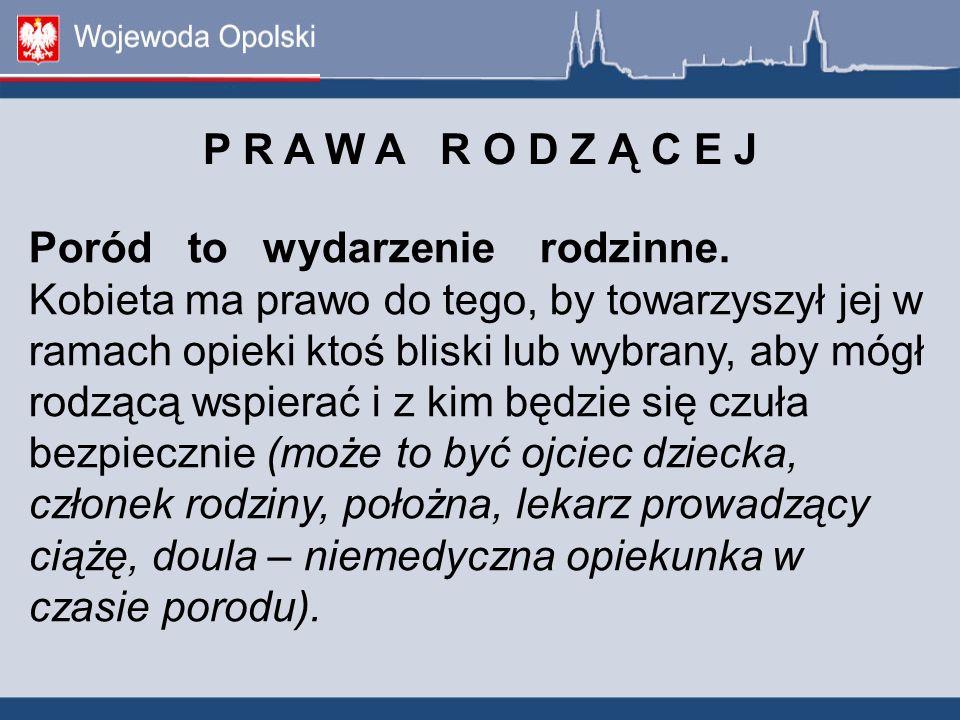 P R A W A R O D Z Ą C E J. Poród to wydarzenie rodzinne.