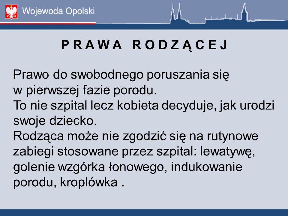 P R A W A R O D Z Ą C E J. Prawo do swobodnego poruszania się w pierwszej fazie porodu.