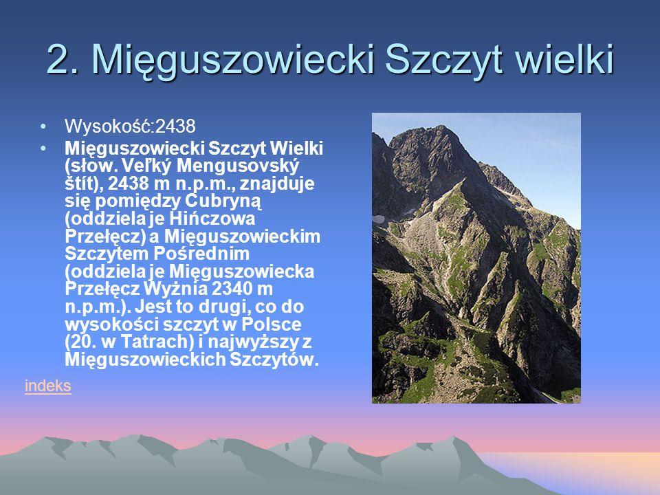 2. Mięguszowiecki Szczyt wielki