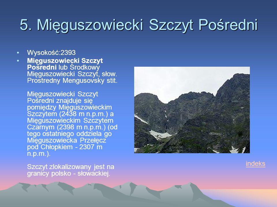 5. Mięguszowiecki Szczyt Pośredni