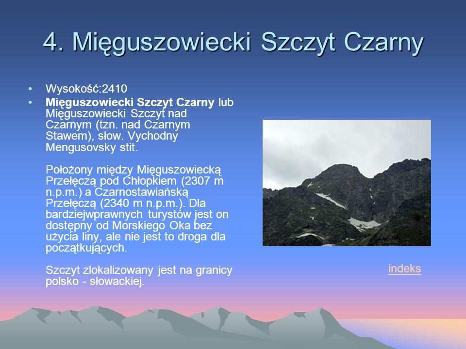 4. Mięguszowiecki Szczyt Czarny