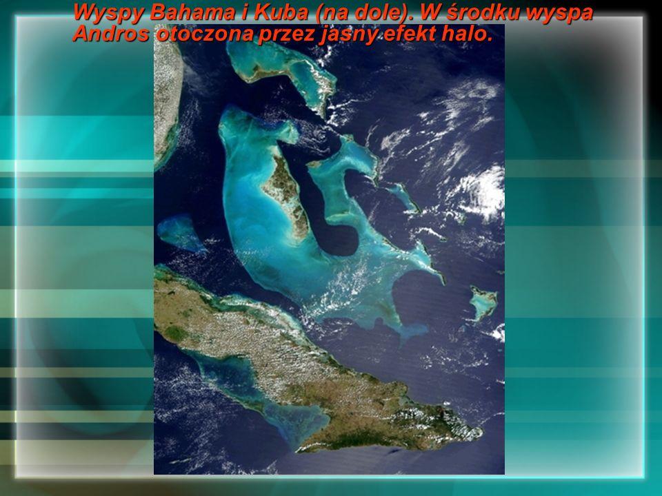 Wyspy Bahama i Kuba (na dole)