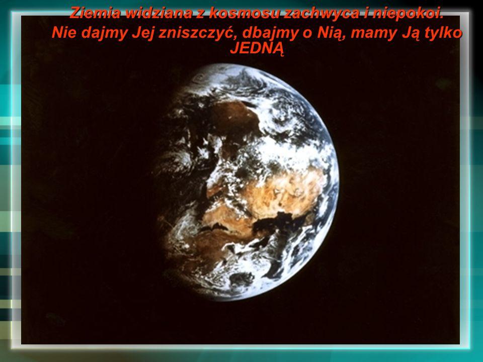 Ziemia widziana z kosmosu zachwyca i niepokoi.