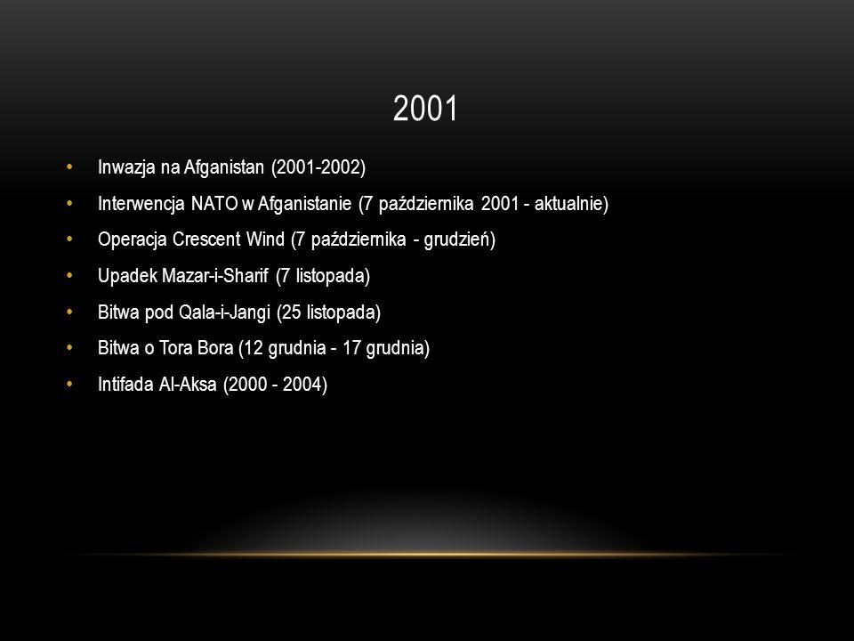 2001 Inwazja na Afganistan (2001-2002)