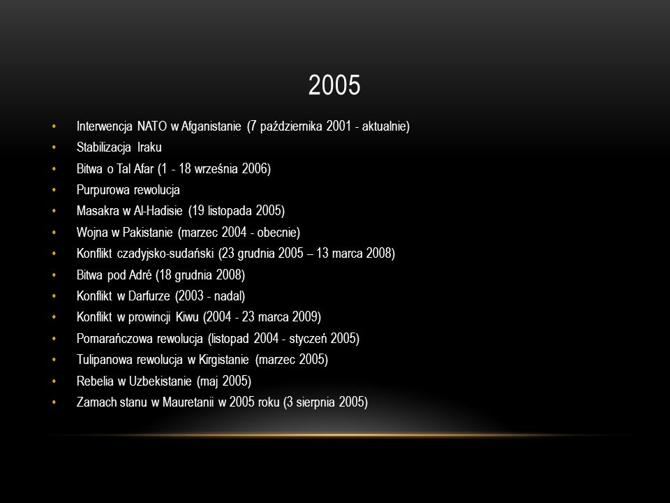 2005 Interwencja NATO w Afganistanie (7 października 2001 - aktualnie)