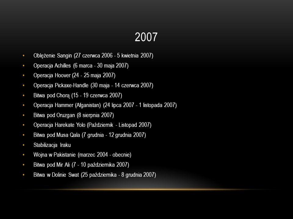 2007 Oblężenie Sangin (27 czerwca 2006 - 5 kwietnia 2007)