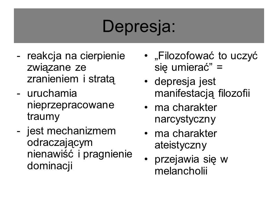Depresja: reakcja na cierpienie związane ze zranieniem i stratą