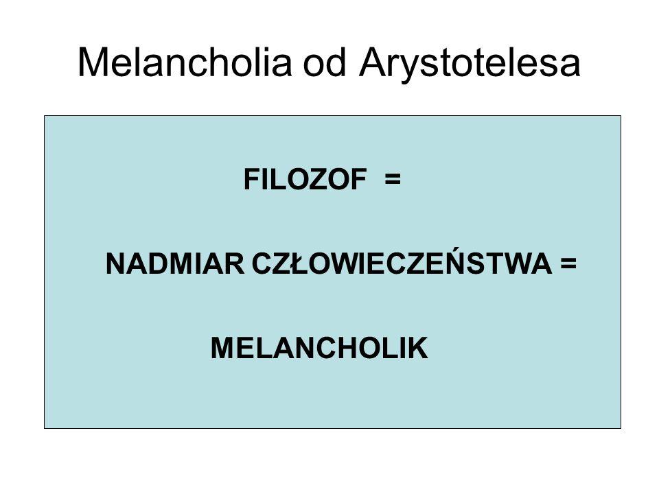 Melancholia od Arystotelesa