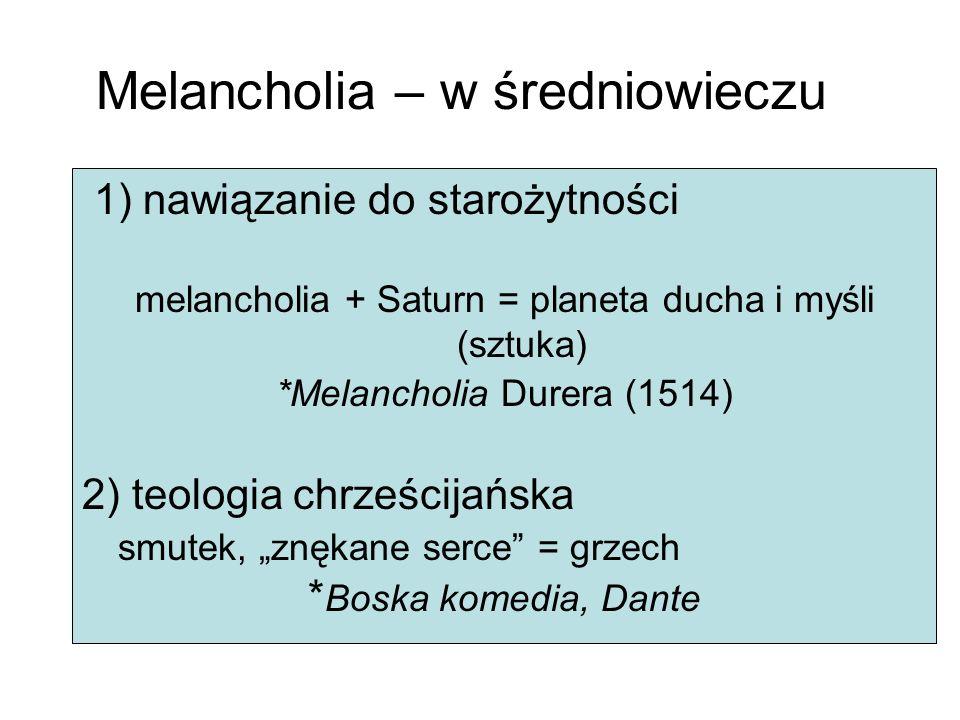Melancholia – w średniowieczu