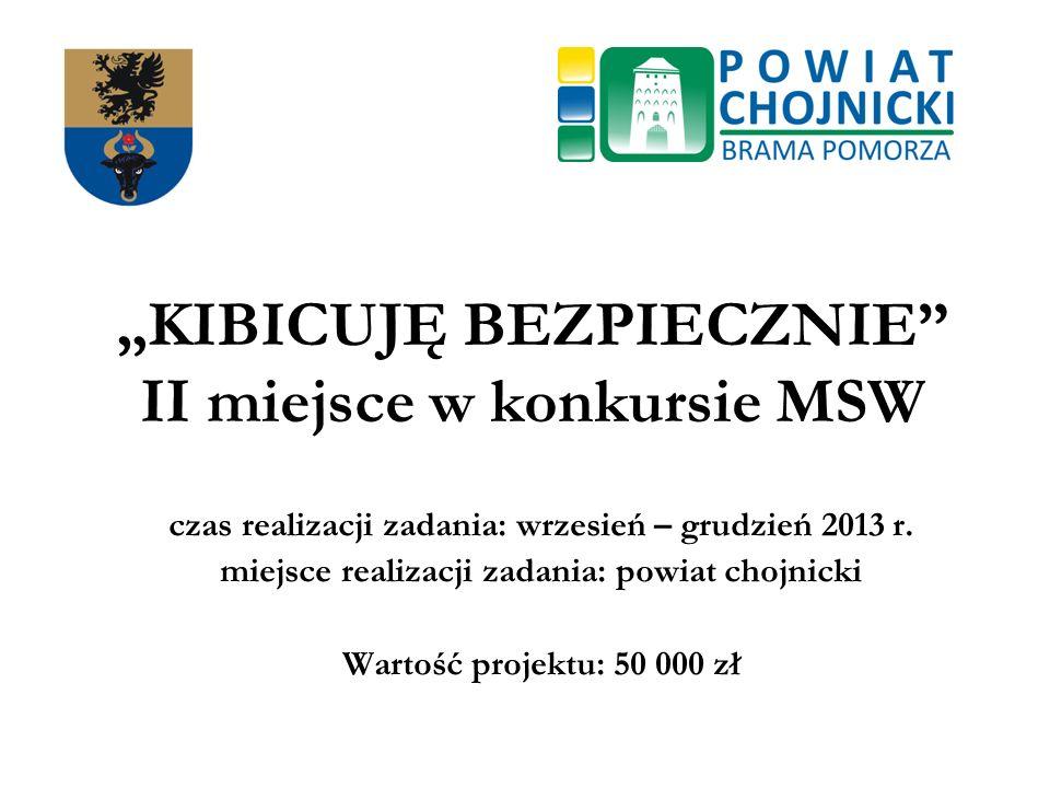"""""""KIBICUJĘ BEZPIECZNIE II miejsce w konkursie MSW"""
