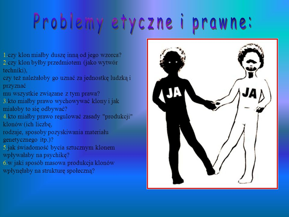 Problemy etyczne i prawne: