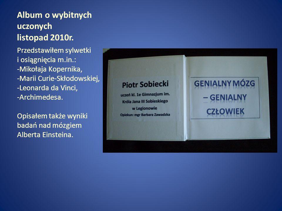 Album o wybitnych uczonych listopad 2010r.