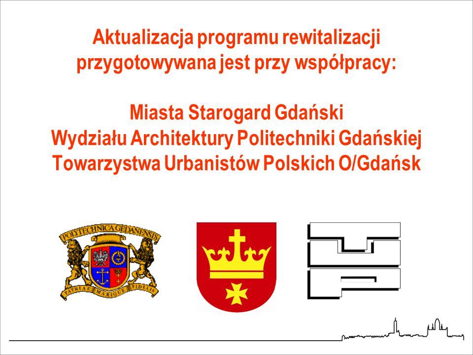 Aktualizacja programu rewitalizacji przygotowywana jest przy współpracy: Miasta Starogard Gdański Wydziału Architektury Politechniki Gdańskiej Towarzystwa Urbanistów Polskich O/Gdańsk