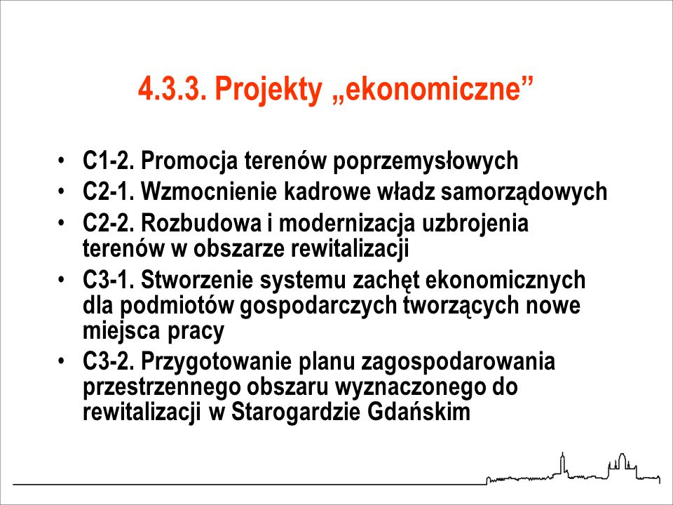 """4.3.3. Projekty """"ekonomiczne"""
