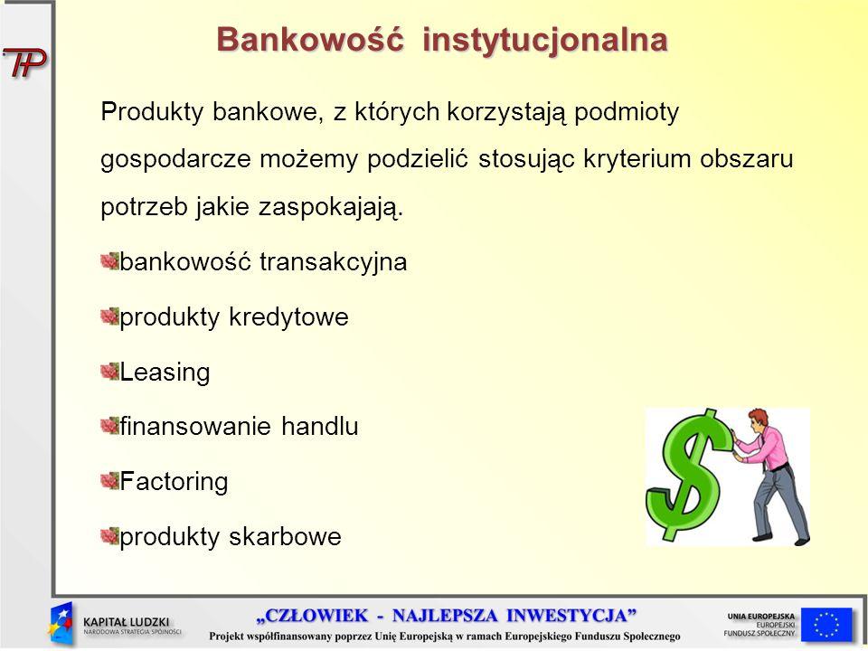 Bankowość instytucjonalna