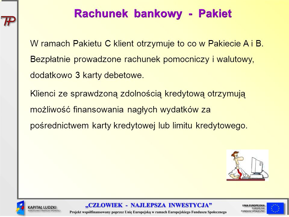 Rachunek bankowy - Pakiet