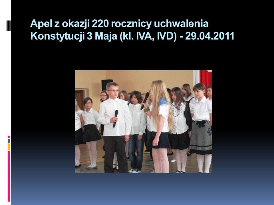 Apel z okazji 220 rocznicy uchwalenia Konstytucji 3 Maja (kl