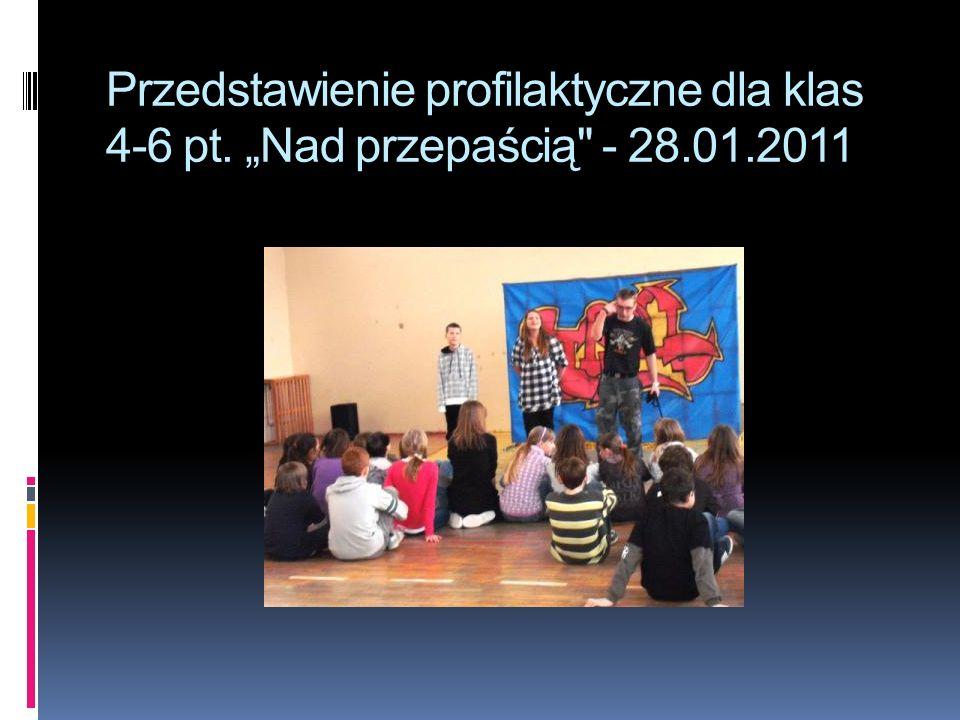 """Przedstawienie profilaktyczne dla klas 4-6 pt. """"Nad przepaścią - 28"""