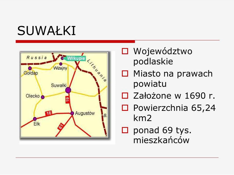 SUWAŁKI Województwo podlaskie Miasto na prawach powiatu