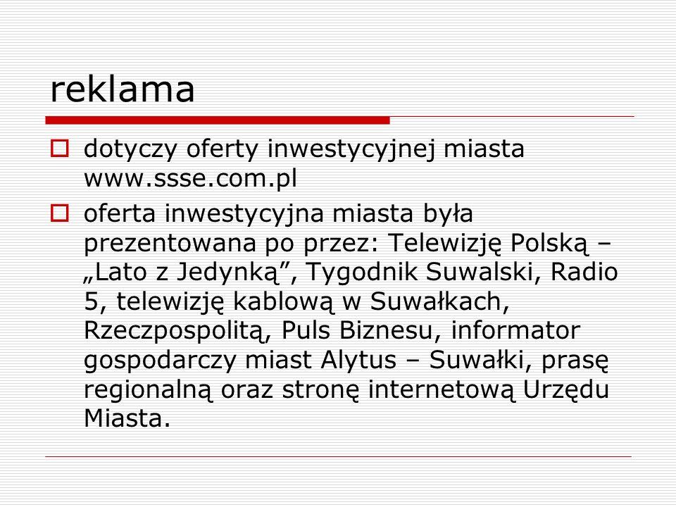 reklama dotyczy oferty inwestycyjnej miasta www.ssse.com.pl