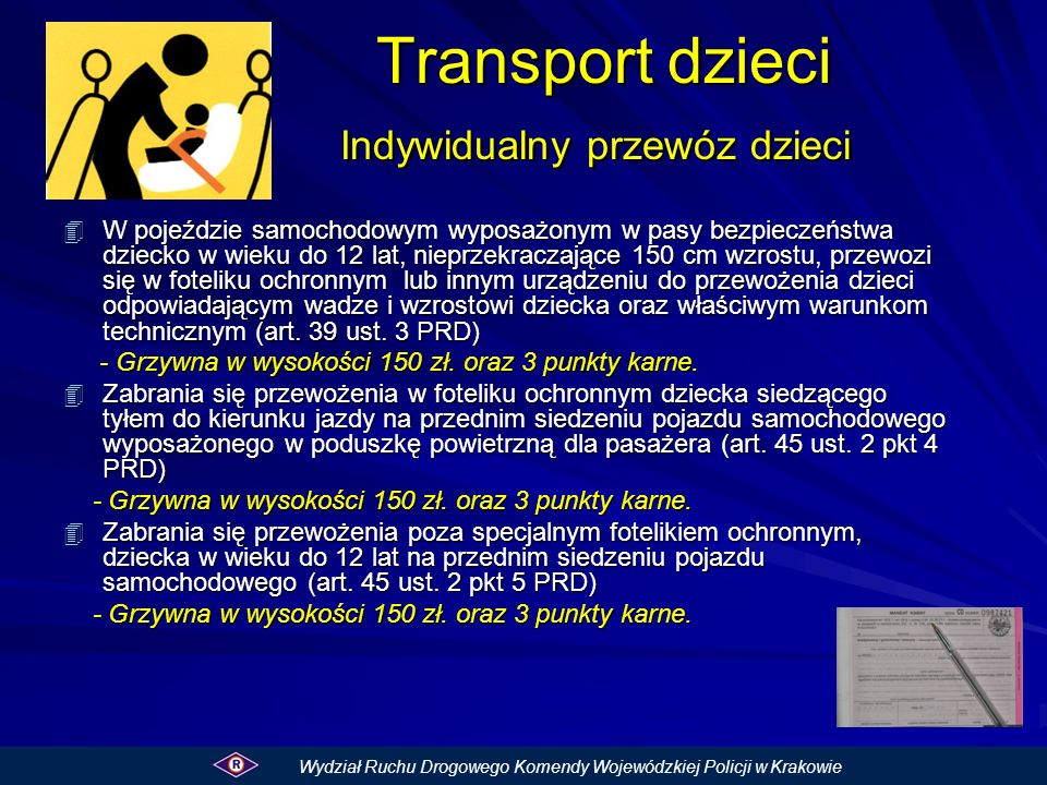 Transport dzieci Indywidualny przewóz dzieci