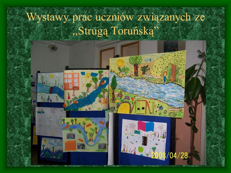 Wystawy prac uczniów związanych ze ,,Strugą Toruńską