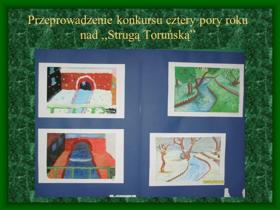 Przeprowadzenie konkursu cztery pory roku nad ,,Strugą Toruńską