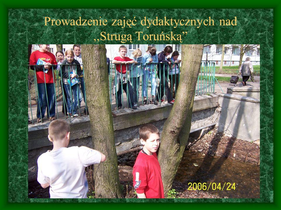 Prowadzenie zajęć dydaktycznych nad ,,Strugą Toruńską